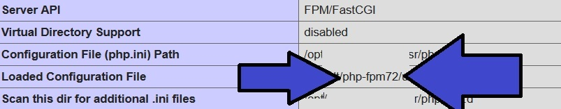 phpinfo php-fpm